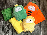 Плед іграшка помаранчевий, фото 3