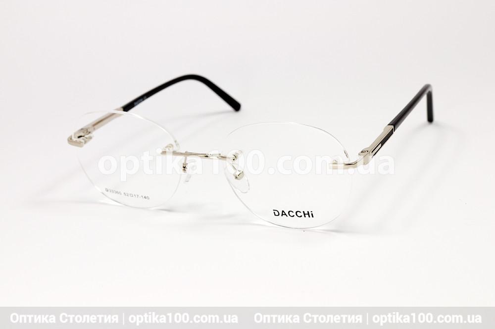 Кругла безободковая жіноча оправа для окулярів