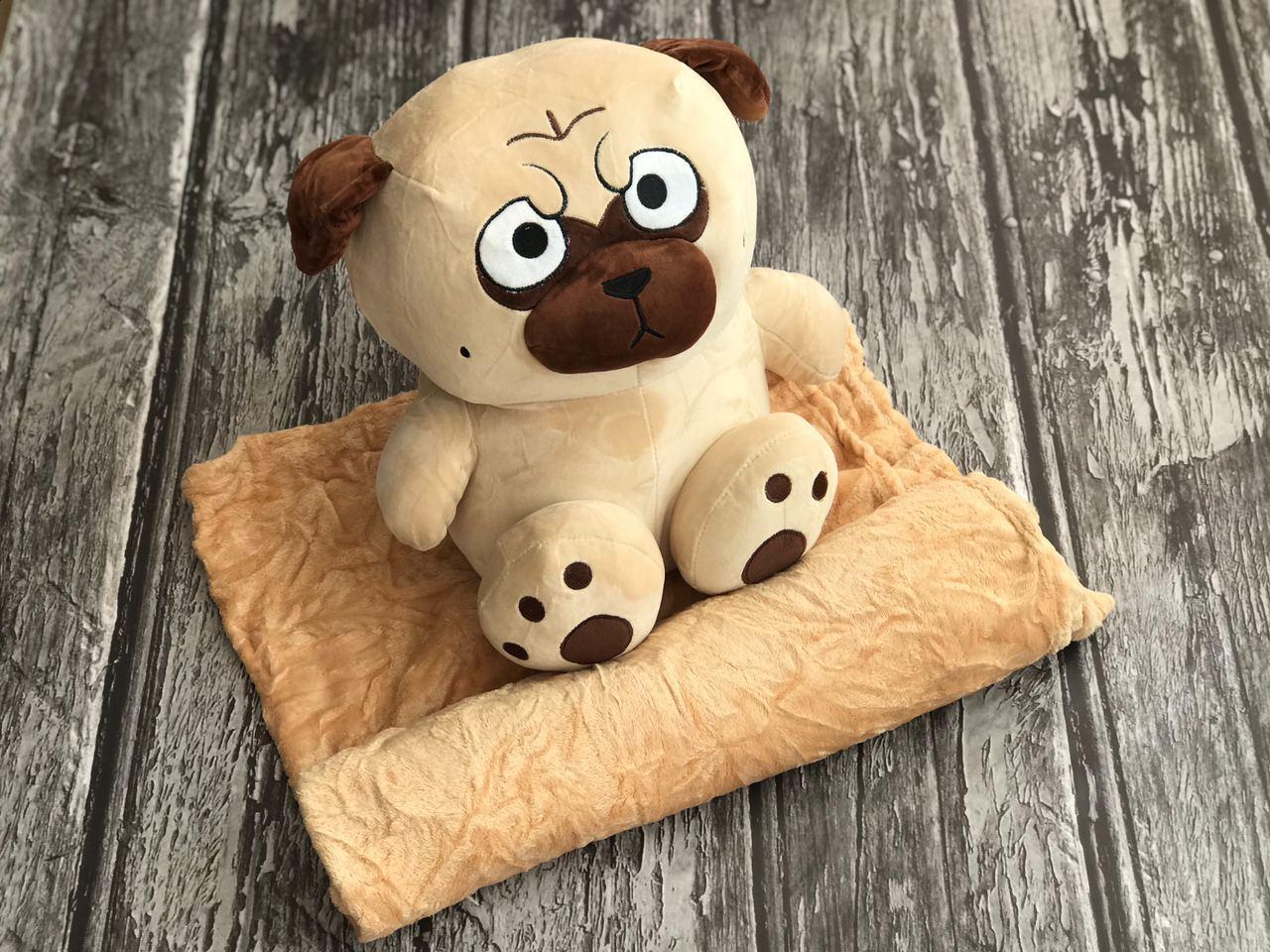 Плед игрушка Собачка