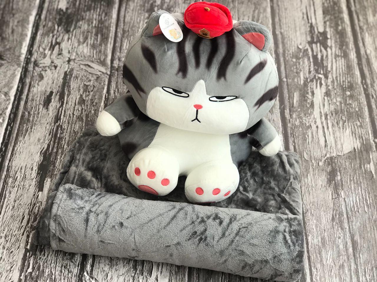 Плед игрушка Котик