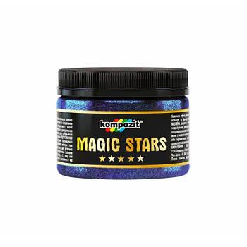 """Гліттер MAGIC STARS """"Kompozit"""" (блакитне сяйво, 60 г)"""