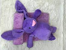 Іграшка-плед зайчик