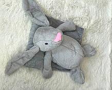 Іграшка-плед зайчик сірий