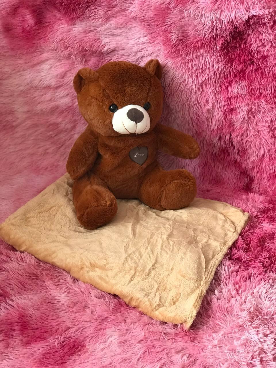 Іграшка-плед ведмедик коричневий