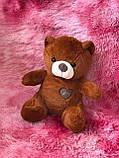 Іграшка-плед ведмедик коричневий, фото 2