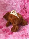 Іграшка-плед ведмедик коричневий, фото 3