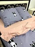 Качественное постельное белье с собачками (двойка), фото 2