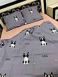 Качественное постельное белье с собачками (двойка), фото 3
