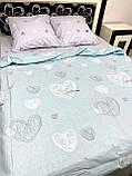 Комплект постельного белья семейный с сердечками, фото 2