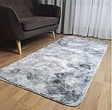 Прикомнатный коврик с высоким ворсом (молочный), фото 4