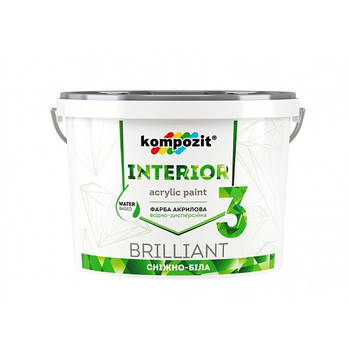 "Фарба інтер""єрна INTERIOR 3 ""Kompozit"" (4,2 кг)"