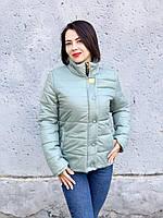Осенняя женская куртка арт. 211/2, серо-зеленая