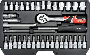 Набір інструменту з головками і насадками Yato YT-14471