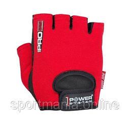 Перчатки для фитнеса и тяжелой атлетики Power System Pro Grip PS-2250 Red S