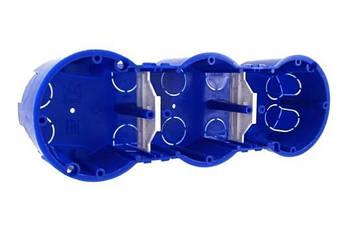 Підрозетник КЕ-502 3-х місний євростандарт (25)