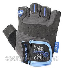Перчатки для фитнеса и тяжелой атлетики Power System Cute Power PS-2560 женские Blue XS