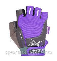 Перчатки для фитнеса и тяжелой атлетики Power System Woman's Power PS-2570 женские Purple XS