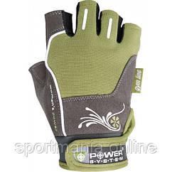 Перчатки для фитнеса и тяжелой атлетики Power System Woman's Power PS-2570 женские Green XS
