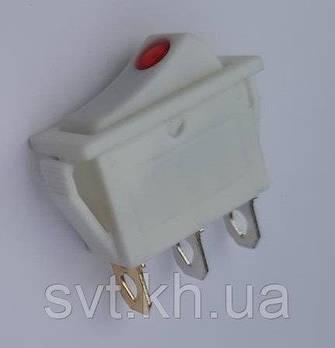 Кнопка вузька 1-а біла (латунь) (100)