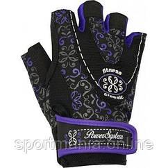 Перчатки для фитнеса и тяжелой атлетики Power System Classy Женские PS-2910 Purple XS