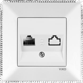 Розетка комп'комп'ютерна Meridian біла (90970132)(0032)