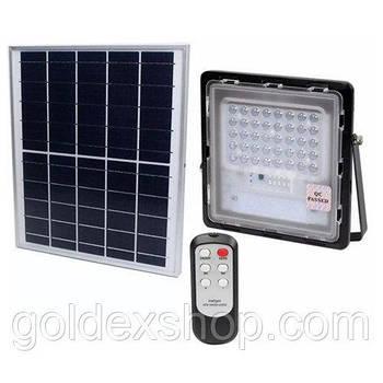 Прожектор JD-740 40W, IP67, сонячна батарея, пульт ДУ, вбудований акумулятор, таймер, датчик світла