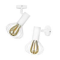 Светильник лофт настенно-потолочный MSK Electric Lotus NL 14151-1 WH