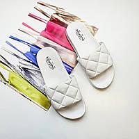 Модные женские сланцы шлепки белые для пляжа Fashion 1227