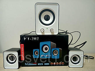 Колонки компьютерные FT 202 в ассортименте