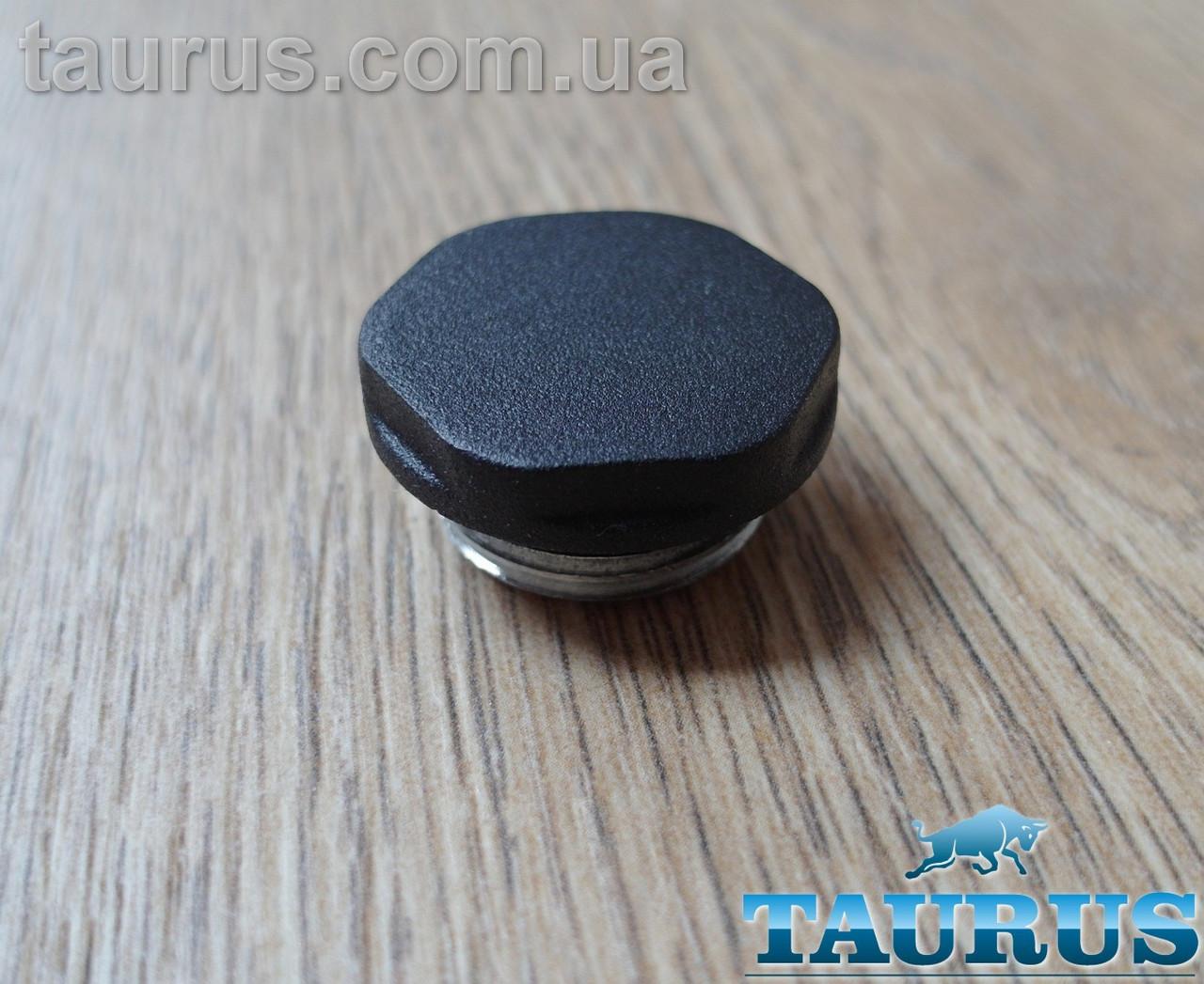 """Чорна плоска заглушка Premium Black з гумкою 1/2"""" на рушникосушку ThermoPulse"""