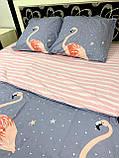 Постельное белье полуторка Фламинго, фото 2
