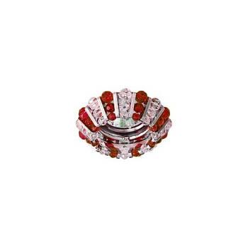 Світильник точ. CD2121 MR16 прозорий-червоний, хром 50W(3346)