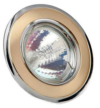 Світильник точ. DELUX HDL16002R MR16 12V зол.-мат-хром