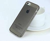 Силиконовый чехол Ультратонкий для iphone 5/5s графит