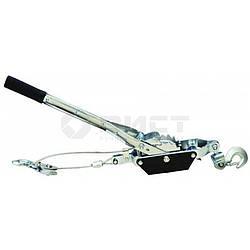 Лебідка ручна 4т, 2 храповика, 2 гачка, трос 5ммх3м Technics 52-395 | лебедка ручная крючка