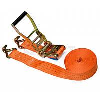 Стяжний ремінь 5т/50 ммх 6 м, з тріскачкою 52-426 Berg // Стяжной ремень с трещоткой