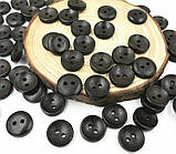 Деревянные пуговицы оптом 13мм черные 200шт., фото 2