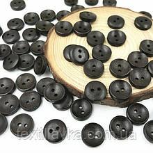 Дерев'яні гудзики оптом 13мм чорні 200шт.