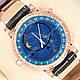 Яркие наручные часы Patek Philippe Geneve Gold/Black 1019-0075, фото 4