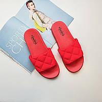 Женские шлепанцы пена резина яркие розовые для пляжа Fashion 1227