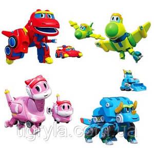 Команда Дино набор трансформеров с Ти-Рекс Gogo Dino