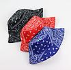 Трендова панама в принт бандани пейслі paisley print бавовняна панамка унісекс чоловіча жіноча, фото 9