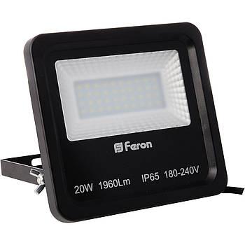 Прожектор LL-620 40LEDS 20W білий 6400K 230V (164*152*44mm) чорний IP 65 (5405)