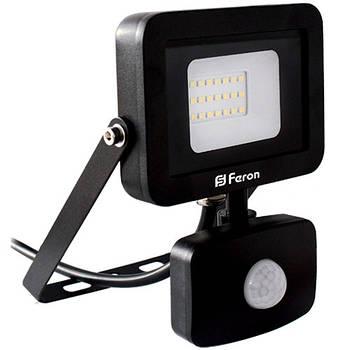 Прожектор світлодіодний LL-802 20W 6400K (+датчик) 230V (131*190*57mm) Чорний IP 44 (6001)
