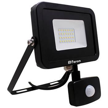 Прожектор світлодіодний LL-803 30W 6400K (+датчик) 230V (184*232*57mm) Чорний IP 44 (6002)