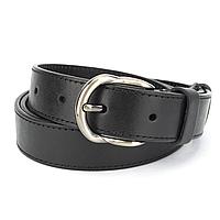 Ремень женский кожаный черный PS-3067 (120 см)