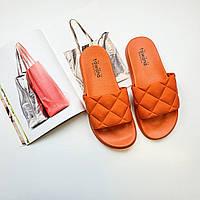 Резиновые шлепки женские оранжевые Fashion 1227