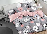 Двухспальный набор постельного белья Бязь Голд, расцветка как на фото,  коты
