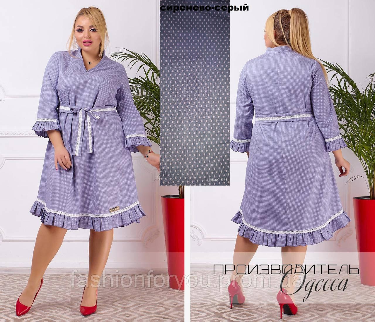 Сукня вільного крою, Рукав 3/4 оздоблення рюше мереживом, що надає сукні легкості