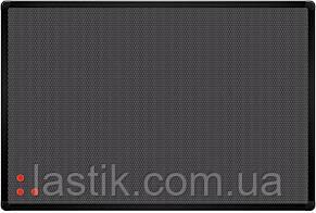 Дошка текстиль сірий + металева сітка, рамка чорна 45х60 см
